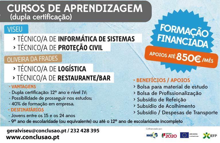 Formações remuneradas para jovens desempregados – Viseu e Oliveira de Frades