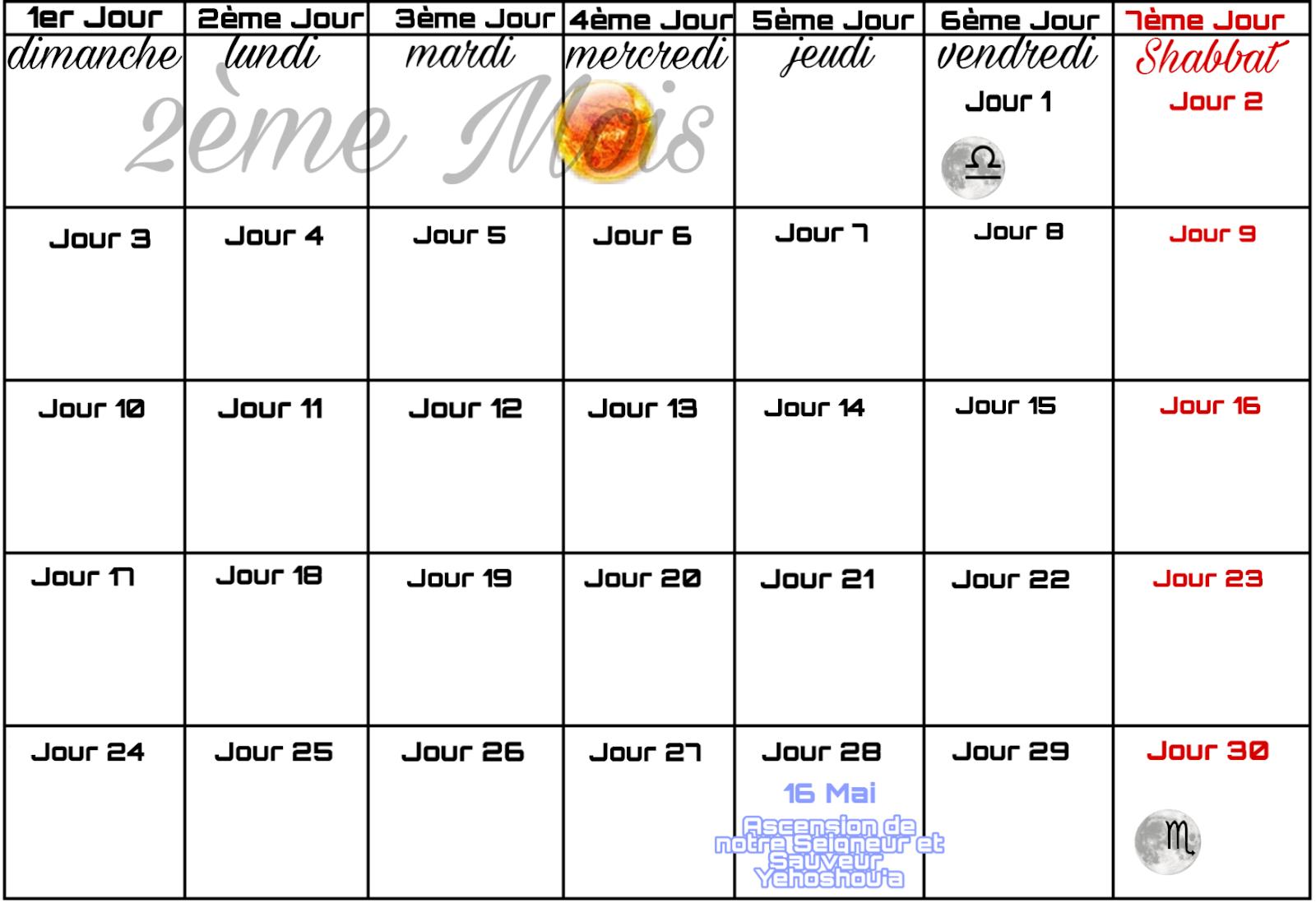 Calendrier Hebraique 2020.Calendrier De Yhwh Calendrier Juif