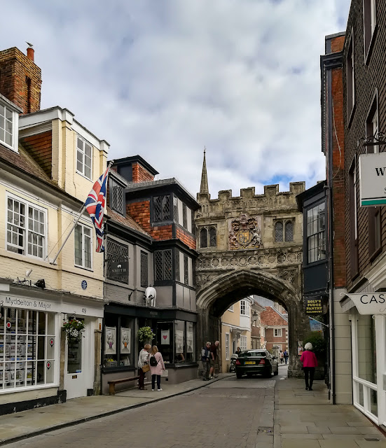 Photo of one of the gateways into Salisbury Cathedral Close