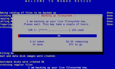 Mondo Rescue - herramienta de recuperación de datos de discos duros