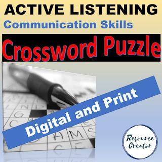 Active Listening Crossword Puzzle