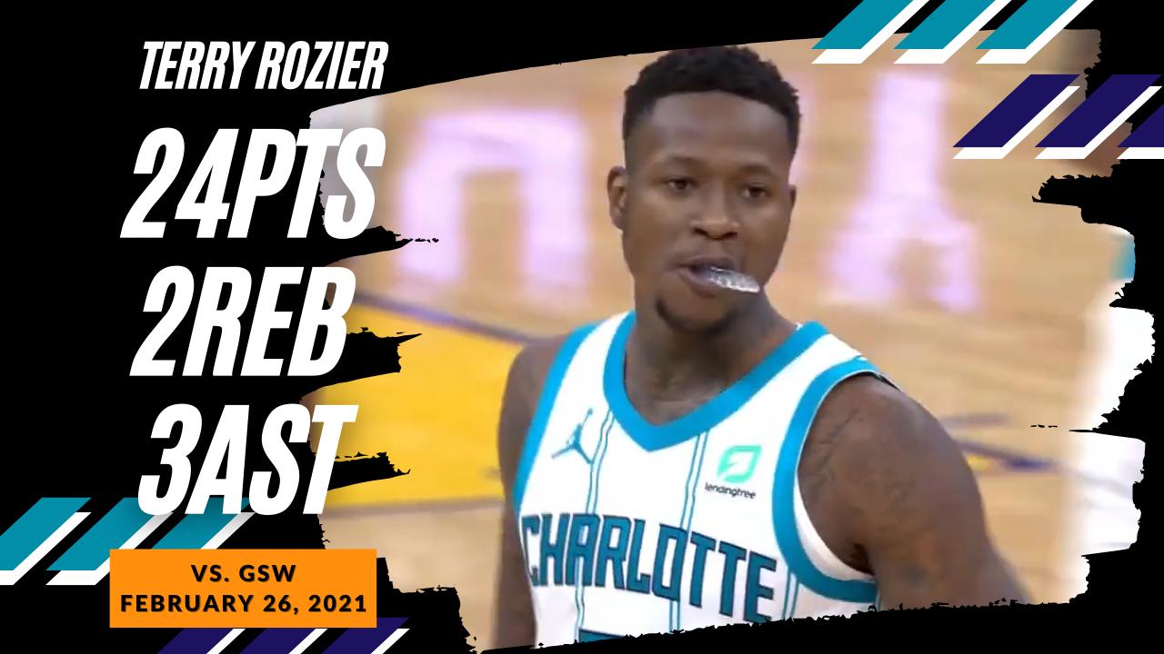 Terry Rozier 24pts vs GSW   February 26, 2021   2020-21 NBA Season