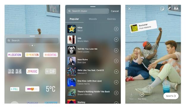 Nova função do Instagram permite colocar música nos Stories