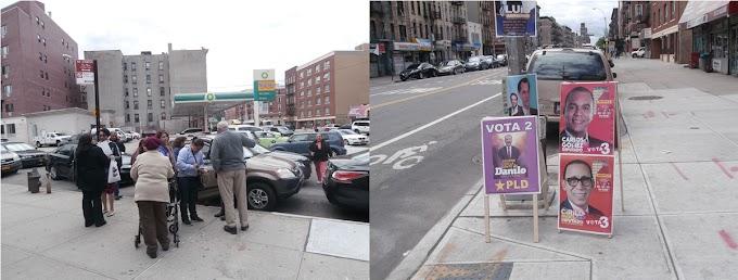 Policía de NY sofoca enfrentamientos entre peledeístas y opositores frente a centro electoral