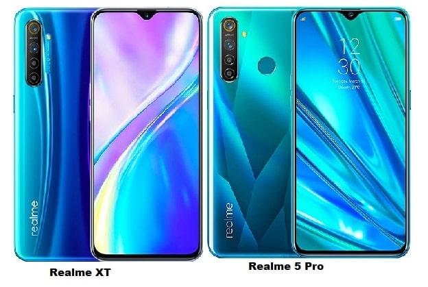 Realme XT Vs Realme 5 Pro Specs Comparison