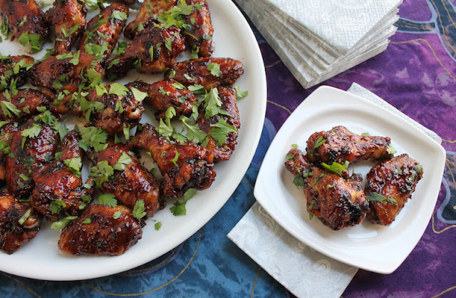 Food Lust People Love: Sticky jammy hot wings are sweet and savory and spicy, not to mention finger-licking good! And, even better for you, they are baked, not fried!