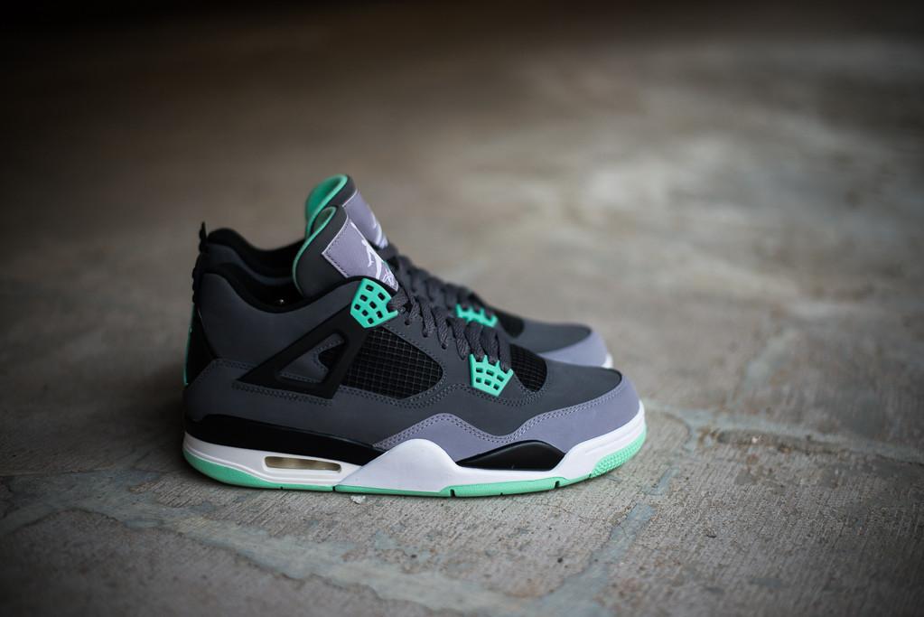 Air Jordan Retro 4 Green Glow Live Love Dream