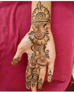 Back Hand Mehndi Simple And Easy