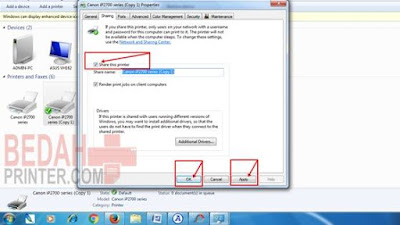 Cara Setting Printer Sharing Windows 7 Lewat Jaringan LAN/WiFi