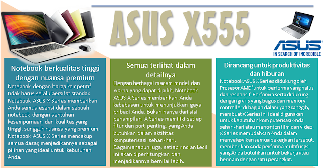Keunggulan Asus X Series - Blog Mas Hendra