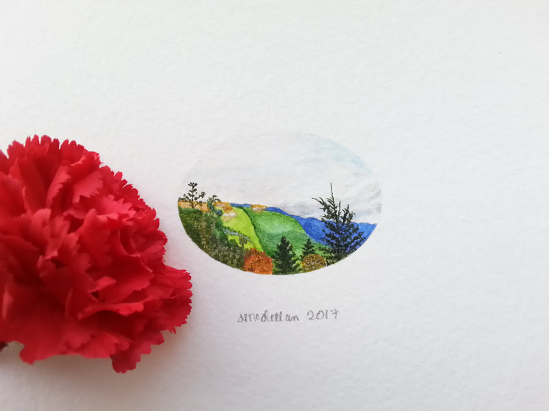 Miniature Paintings by Christine Marie McLellan from USA.