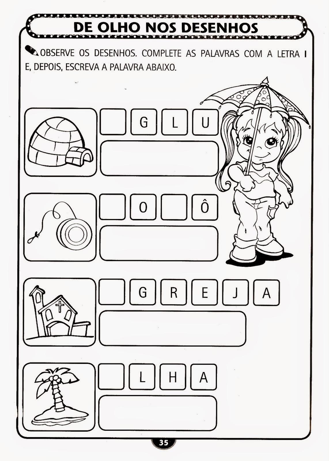Desenhos Para Educacao Infantil Para Imprimir