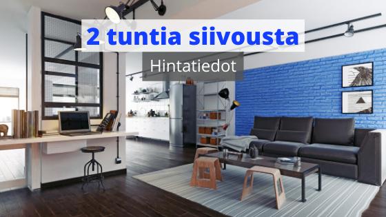 Kahden tunnin kotisiivouksen hinta Tampereella