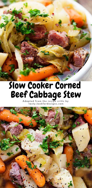 Slow Cooker Corned Beef Cabbage Stew