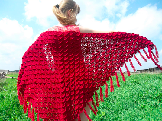 Learn To Crochet Shawl Triangular Crocodile Video Tutorial