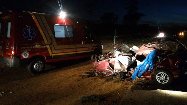 Grave acidente com vítima fatal na rodovia Santo Antônio do Jardim x Andradas