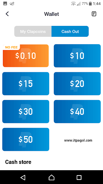 Minimum payout $10 dollars by using PayPal
