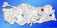 Bayburt ilinin Türkiye haritasında gösterimi