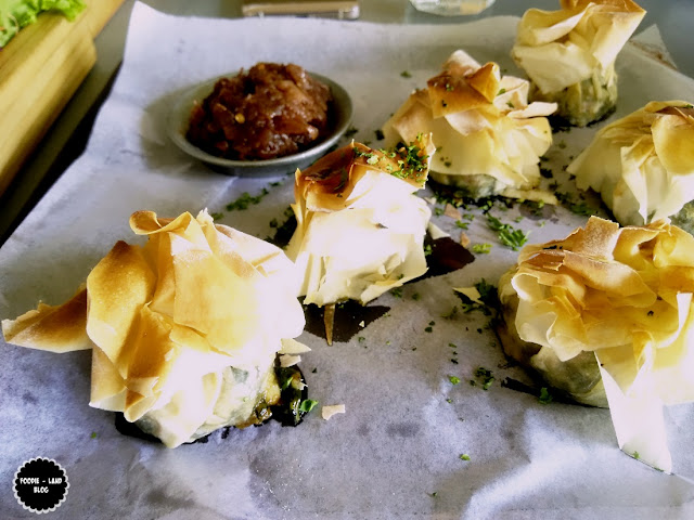 Spinach & Cheese Filo Parcels @ Biergarten | Whitefield | Bangalore
