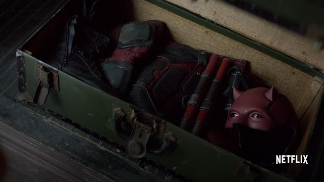 Vistazo de cerca al traje de Daredevil en The Defenders