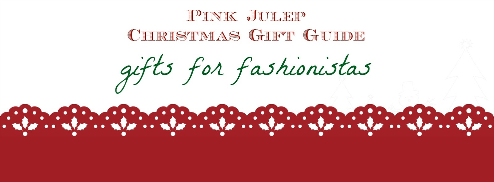 Pink Julep Christmas Gift Guide for Fashionistas