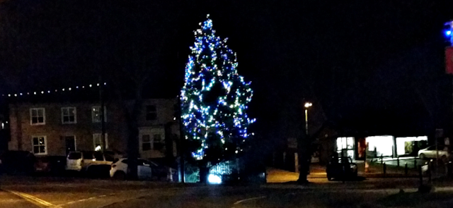 The Christmas tree in town