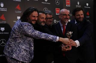 Equipo de 'Sordo' en los Premios Feroz 2020