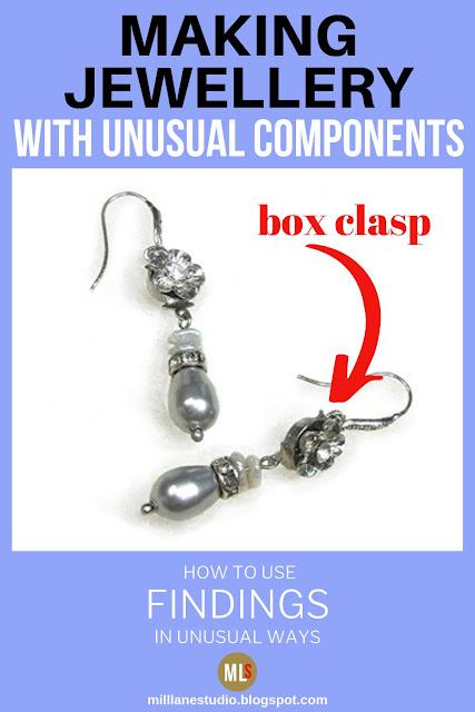 Box clasp earrings inspiration sheet.