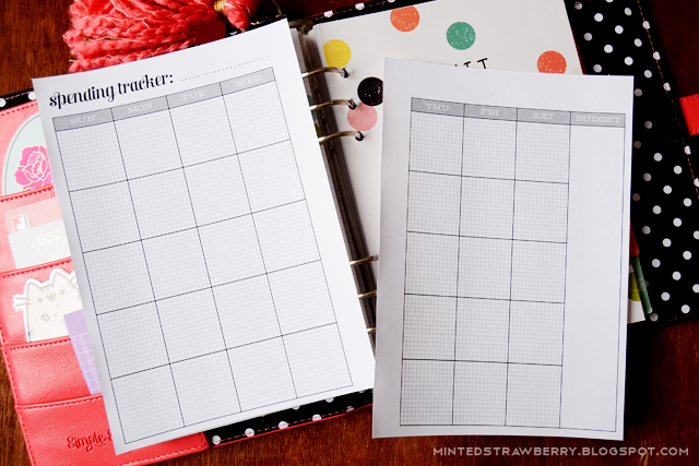 FREE PRINTABLE Budget Tracker for A5 Planners - Minted Strawberry - free printable budget planner