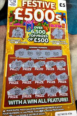 £5 Festive £500 Scratchard