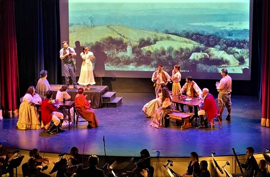 IN REVIEW: the Sapphire Cast of Opera in Williamsburg's September 2021 production of Gaetano Donizetti's L'ELISIR D'AMORE [Photograph © by Kimball Theatre & Opera in Williamsburg]