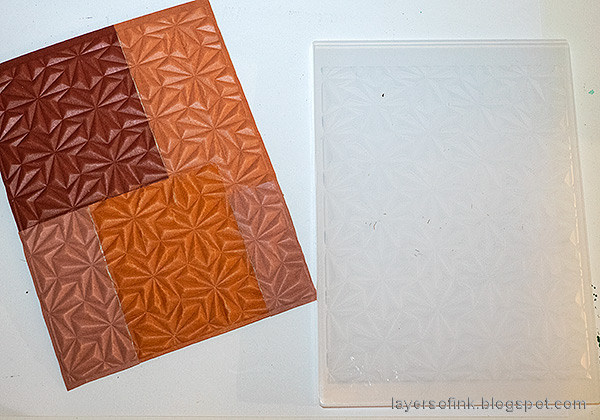 Layers of ink - Dry embossed color blocks card tutorial by Anna-Karin Evaldsson. Emboss in Simon Says Stamp Magnetic folder.