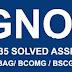 BEGLA - 135 Free Solved Assignment for B.COM IGNOU