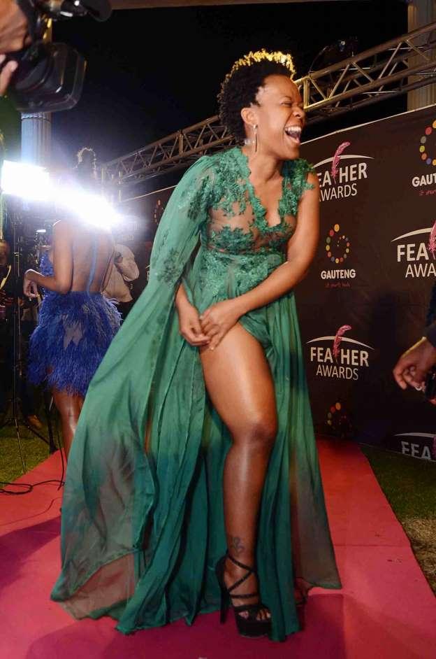Watch: South African pantless dancer, Zodwa Wabantu yanks weave from audience member