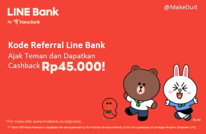 Kode Referral Line Bank; Saldo Gratis 45 Ribu