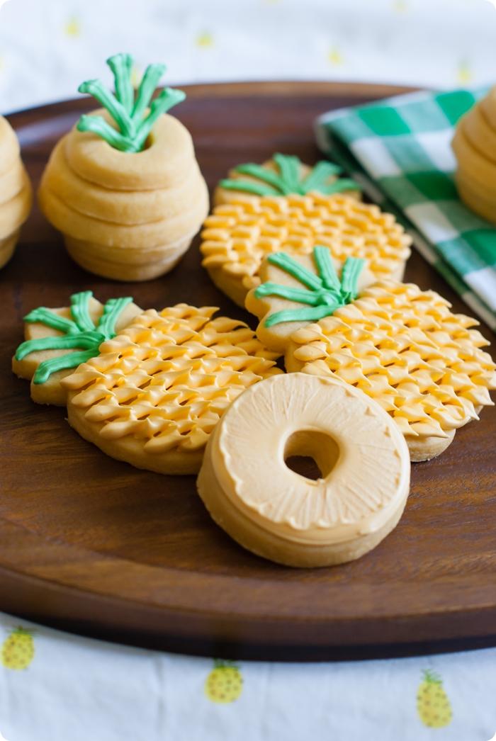 pineapple cookies 3 ways