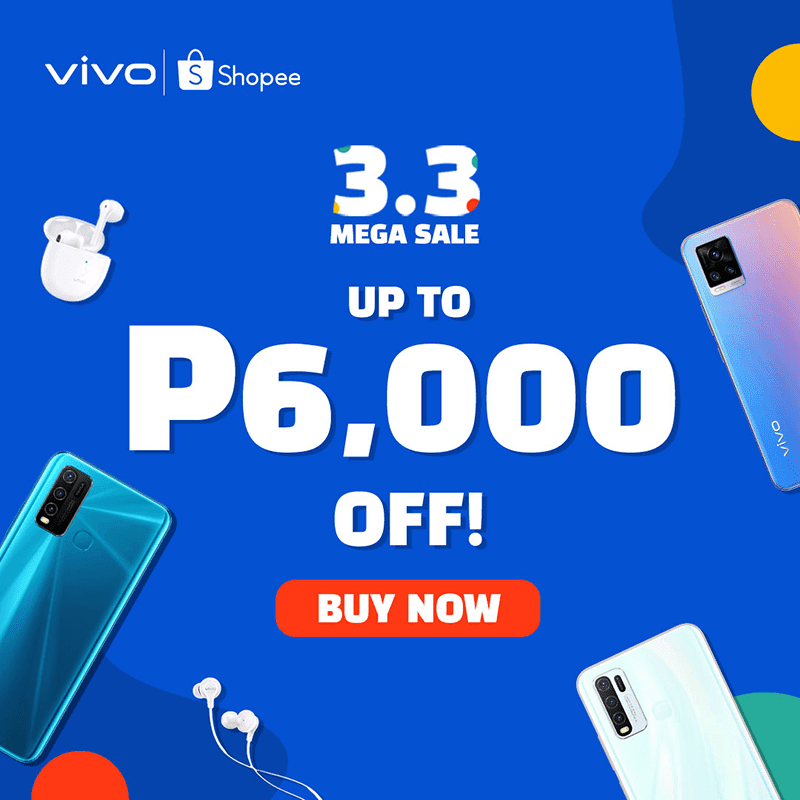 vivo offers huge discounts during Shopee 3.3 Mega Sale