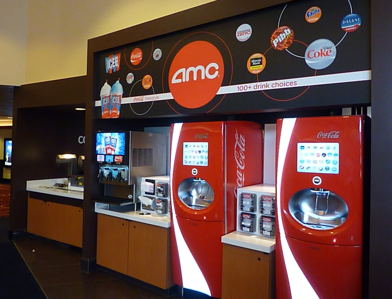 Self Serve Beverage Bar Complete With Touch Screen Soda Fountains That Offer Over 100 Options And Three Flavors Of Icee