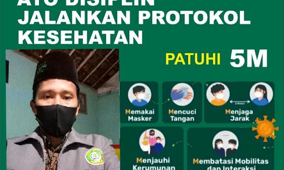 PAHI Palang Himbau patuhi Protokol Kesehatan  (5 M)