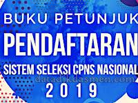 Buku Petunjuk Pendaftaran Seleksi CPNS Nasional Tahun 2019