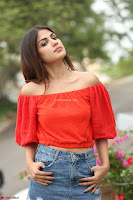 Rhea Chakraborty in Red Crop Top and Denim Shorts Spicy Pics ~  Exclusive 230.JPG