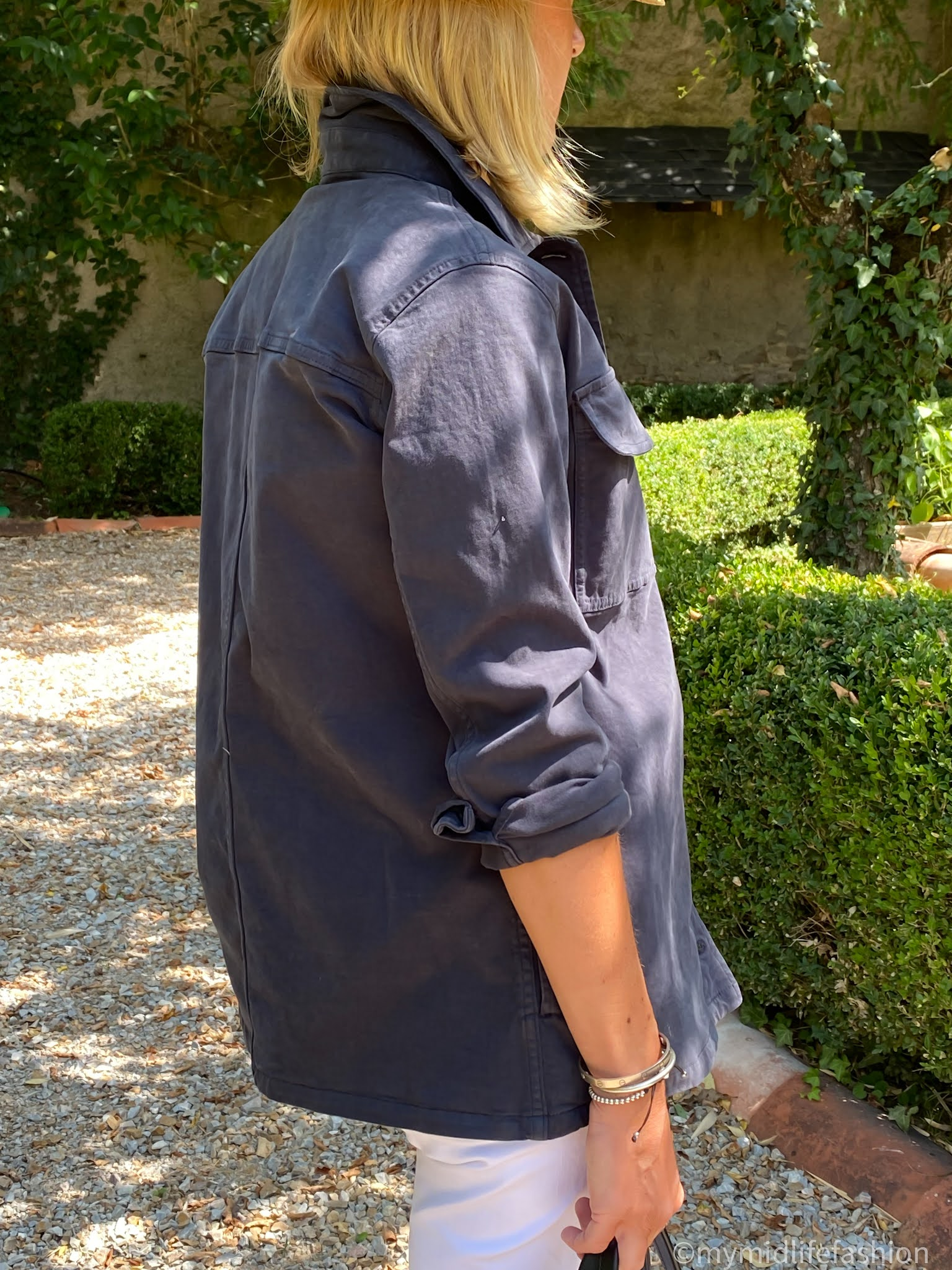 my midlife fashion, Baukjen Alwen organic jacket