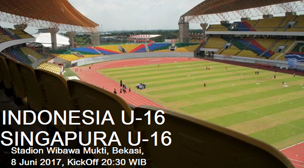Jadwal Siaran Langsung Timnas Indonesia U-16 Lawan Singapura U-16 di Stadion Wibawa Mukti