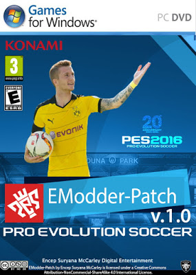 Patch PES 2016 Terbaru dari EModder Patch V1 AIO