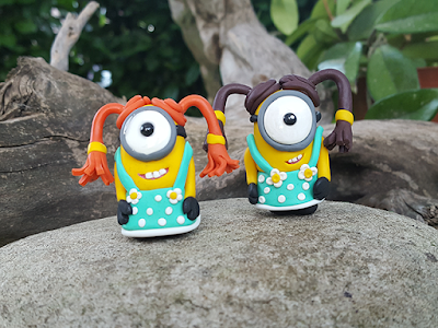 Minions polymer clay female