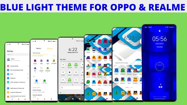 Chủ đề ánh sáng xanh cho OPPO & Realme || Color OS 5,6,7 & Realme ui || Chủ đề OPPO || Chủ đề Realme