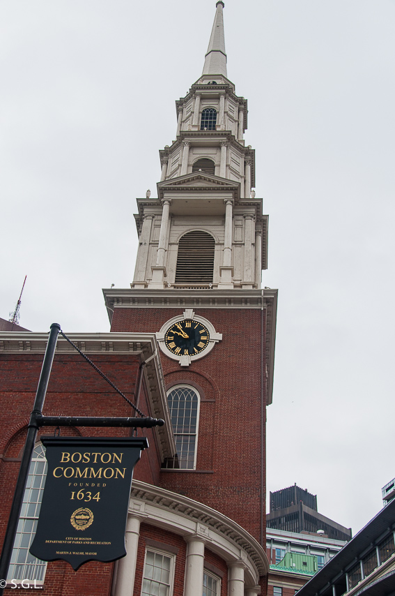 Park street Church en Boston - The freedom trial