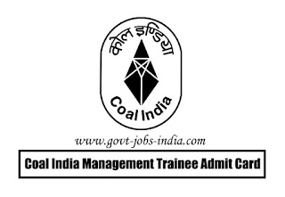Coal India MT Admit Card 2020