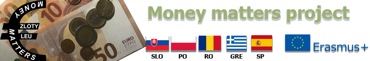 Money matters. Erasmus + Project 17/19