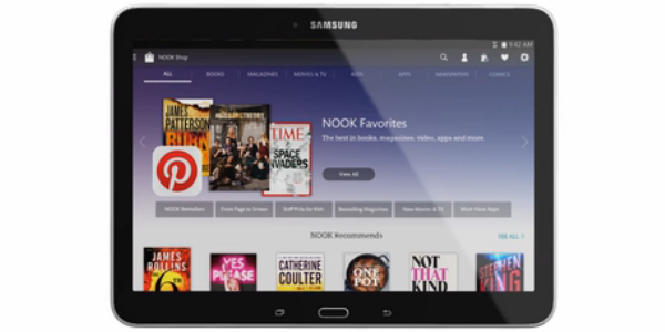 Samsung Galaxy Tab 4 NOOK 10.1 announced for $299.99
